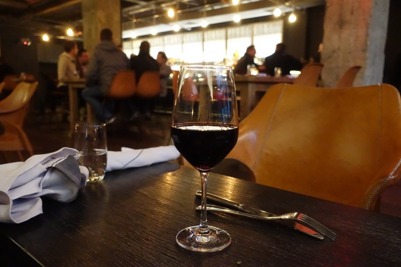 Glass of Malbec, Black Barn NYC Restaurant Review