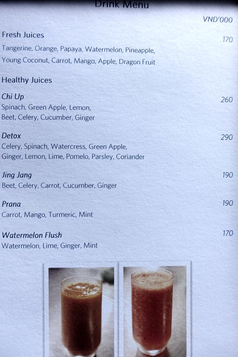 Amanoi Fresh Squeezed Juices Menu