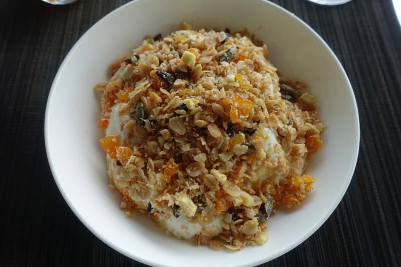 Amanoi Breakfast Review-Vanilla Yogurt with Homemade Granola