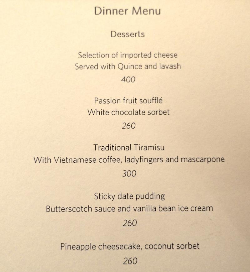 Amanoi Dessert Menu