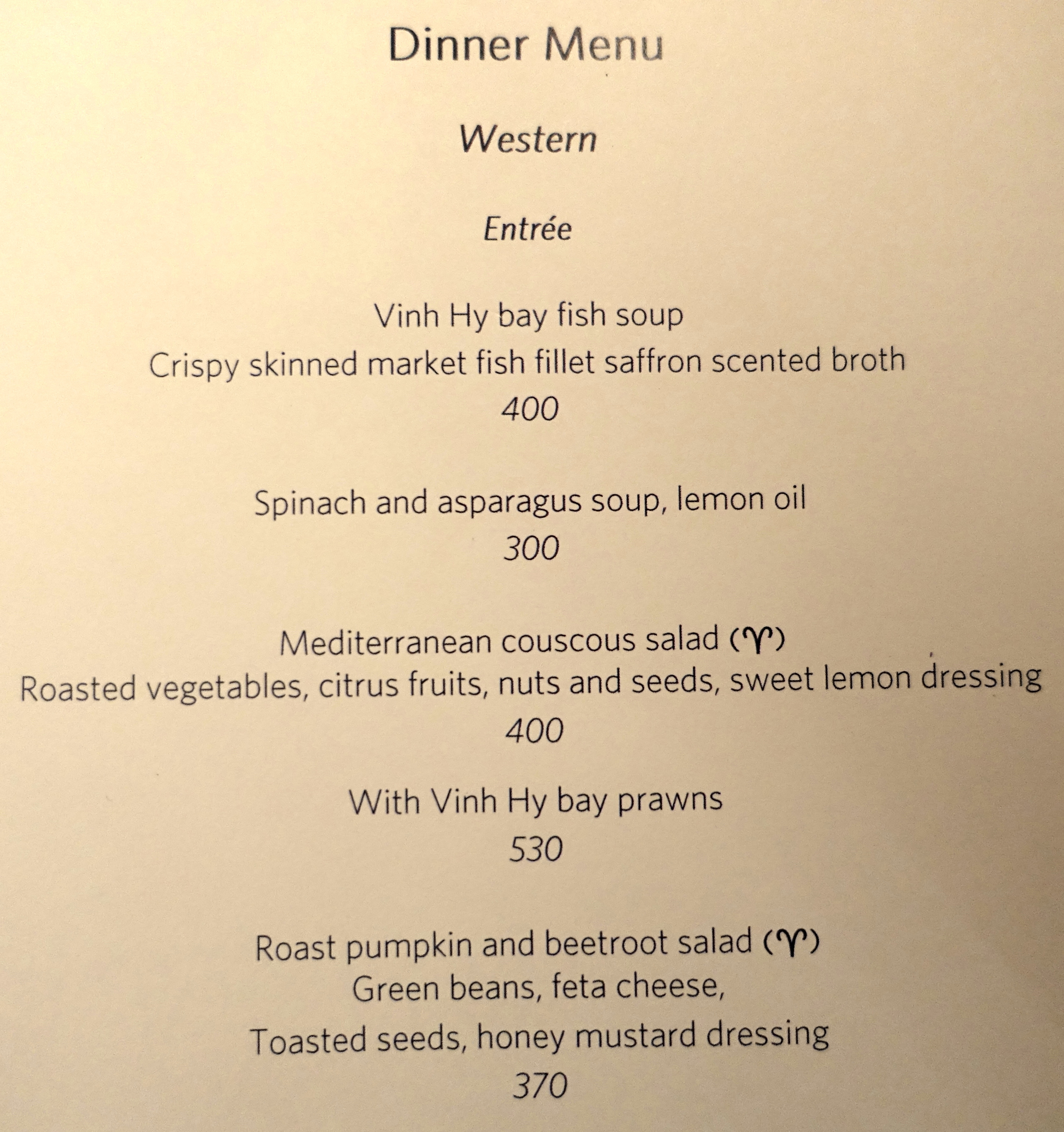 Amanoi Dinner Menu-Western Appetizers