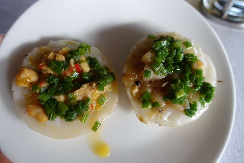 Scallop and Chicken Rice Cakes, Amanoi Afternoon Tea