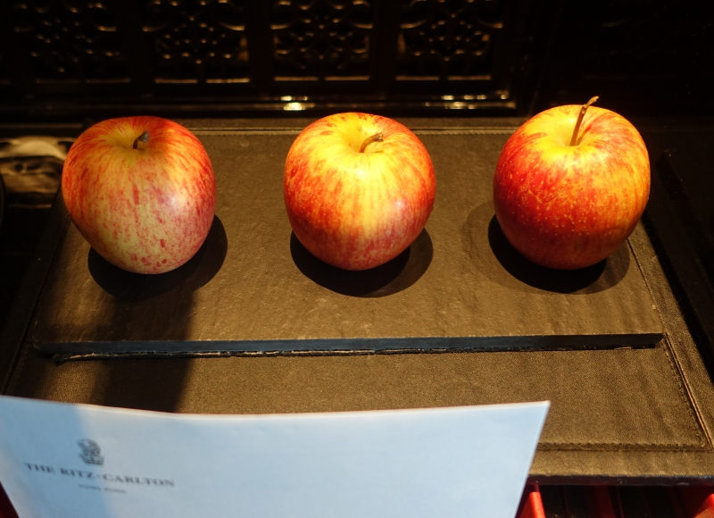 Apples Amenity, The Ritz-Carlton Hong Kong Review