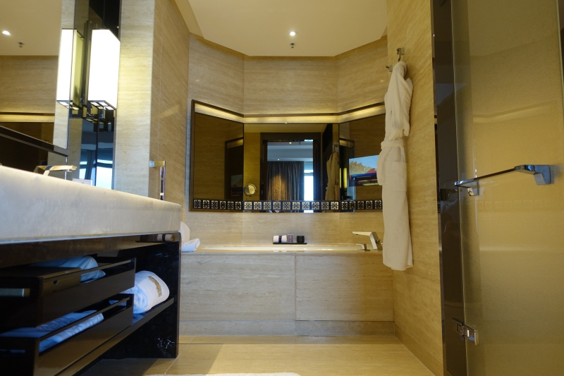 Bathroom, Club Grand Victoria Harbour Room, The Ritz-Carlton Hong Kong Review