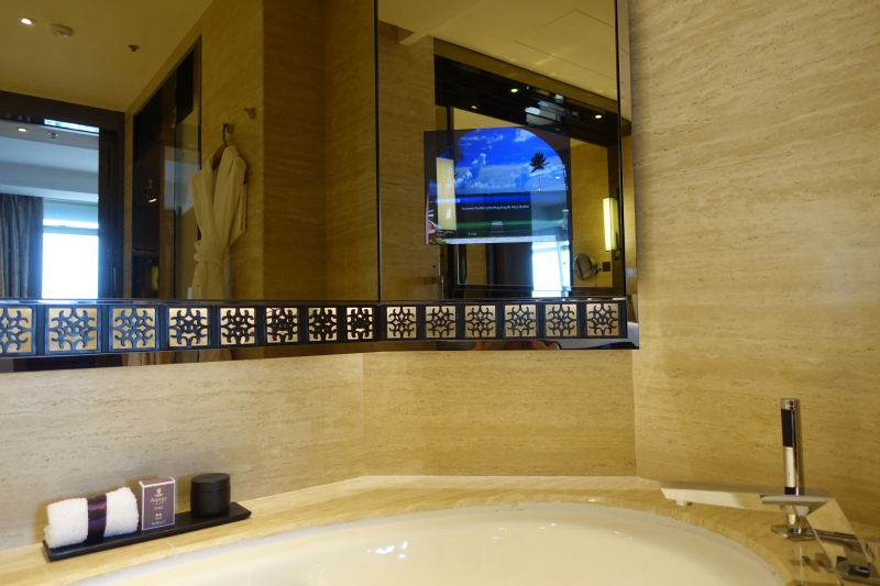 Soaking Tub and Mirror LCD TV, The Ritz-Carlton Hong Kong Review