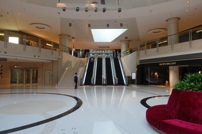 Escalator Near Givenchy to Get to Ritz-Carlton Hong Kong