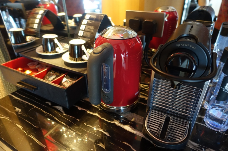 Nespresso Machine, Club Grand Victoria Harbour Room, Ritz-Carlton Hong Kong Review