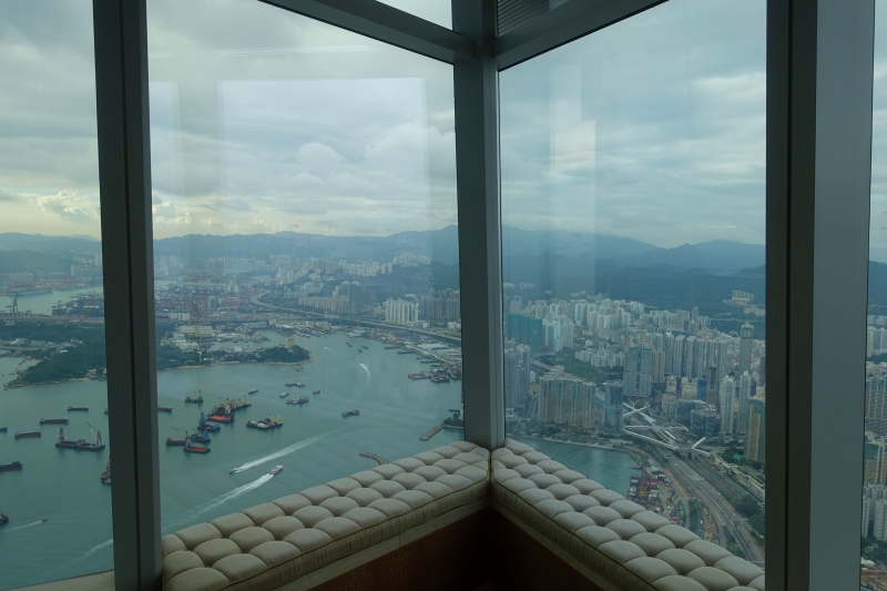 View from Club Grand Victoria Harbour Room, Ritz-Carlton Hong Kong