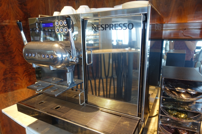 Nespresso Machine, Ritz-Carlton Hong Kong Club Lounge Review