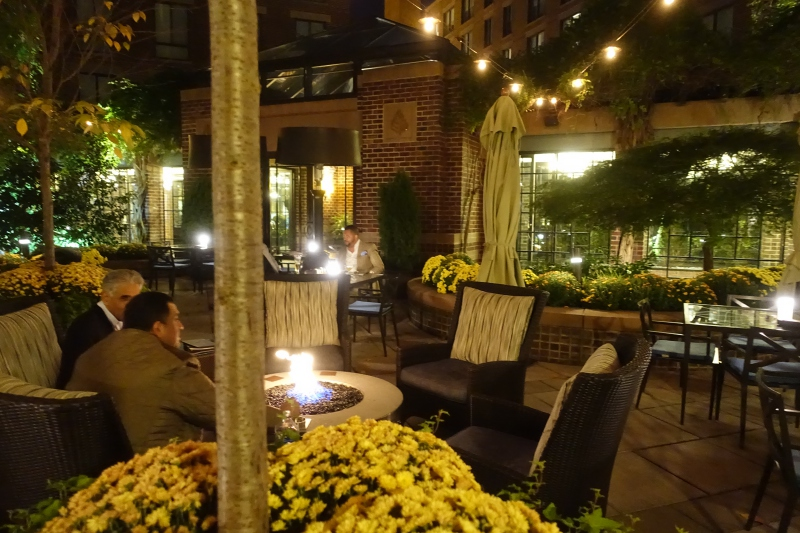 Four Seasons Washington, DC Courtyard Fire Pit