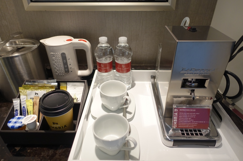 Espresso Machine and Bottled Water