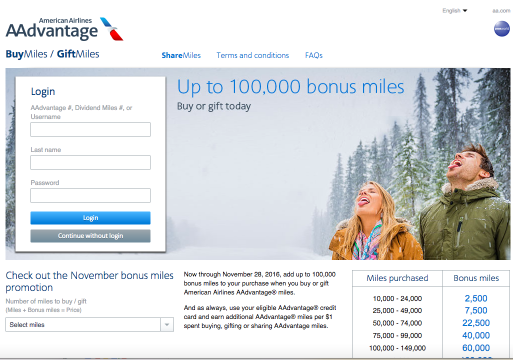 Buy AAdvantage Miles with 100K Bonus? Not Worth It for Most
