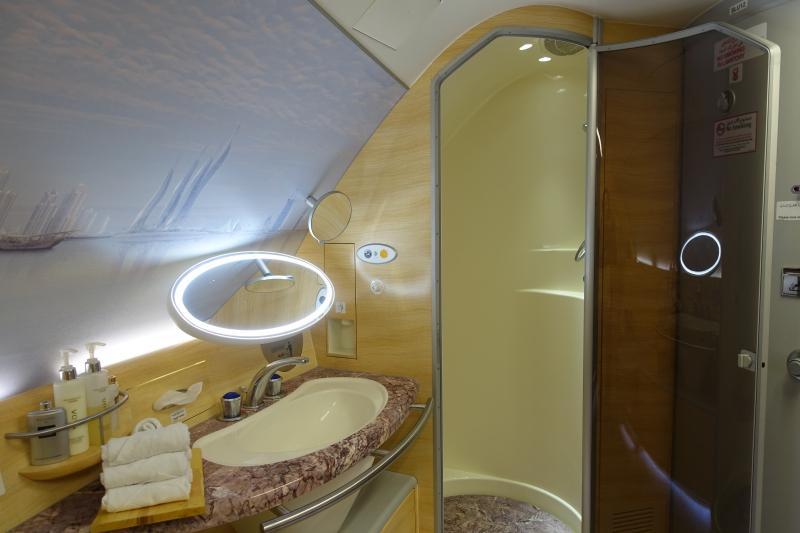 Emirates A380 First Class Shower