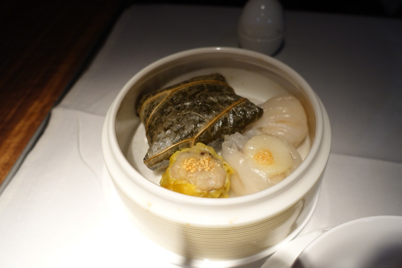 Breakfast Dim Sum, Cathay Pacific First Class Review