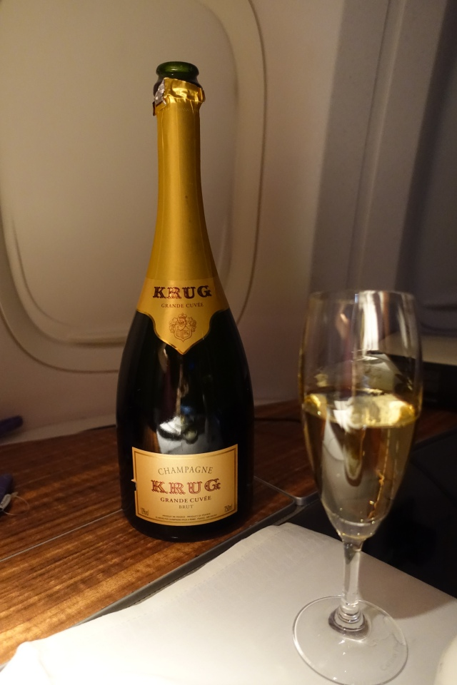 Krug Champagne, Cathay Pacific First Class Review