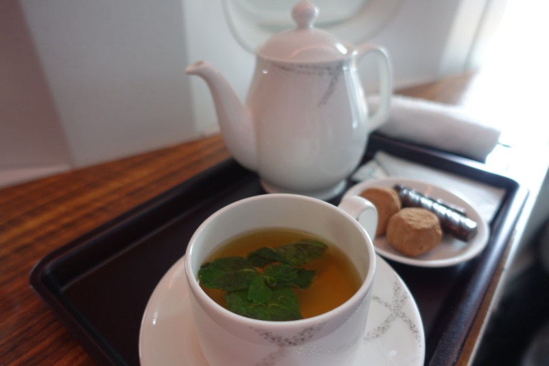 Tea and Pralines, Cathay Pacific First Class Review