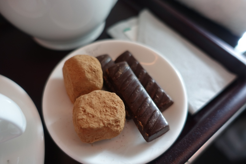 Pralines / Chocolates, Cathay Pacific First Class Review