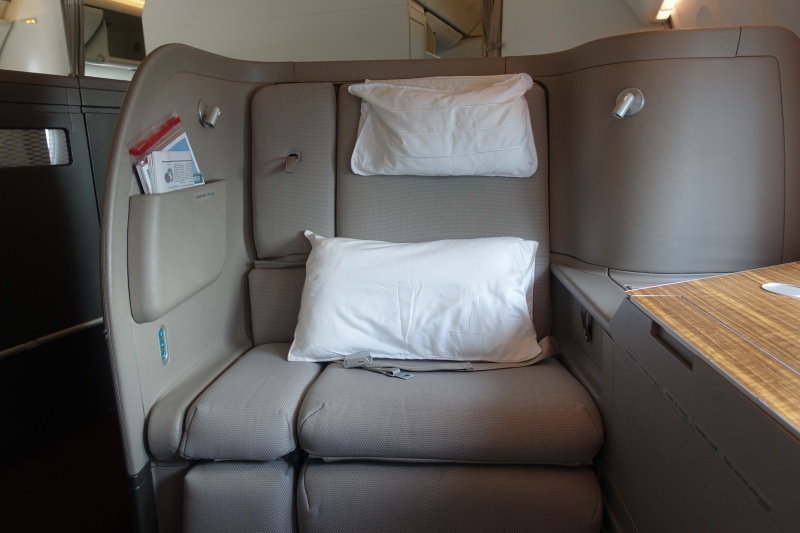 Cathay Pacific First Class Seat Review