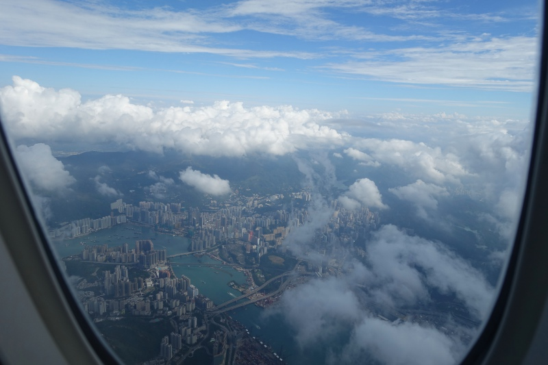 Aerial View of Hong Kong on Departure