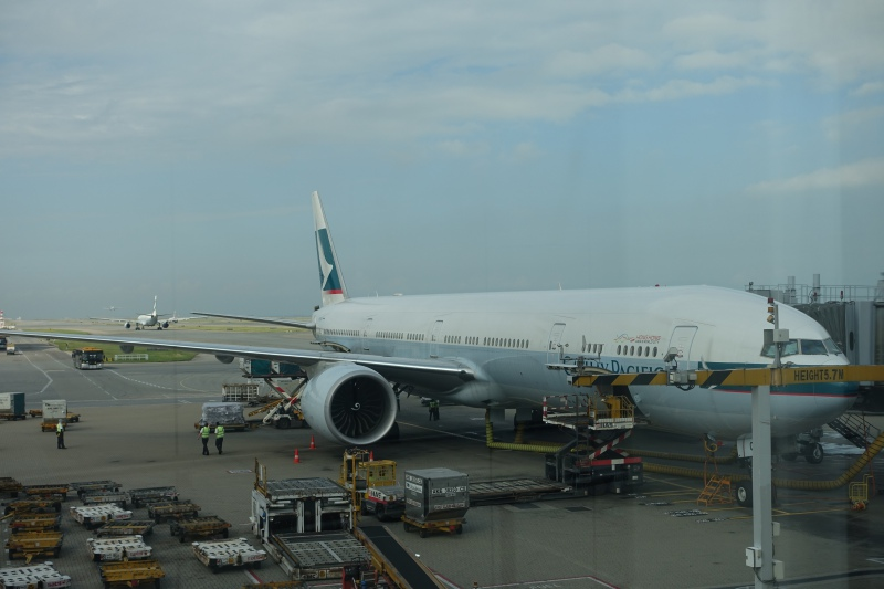 Cathay Pacific 777-300ER Plane Before Boarding, HKG