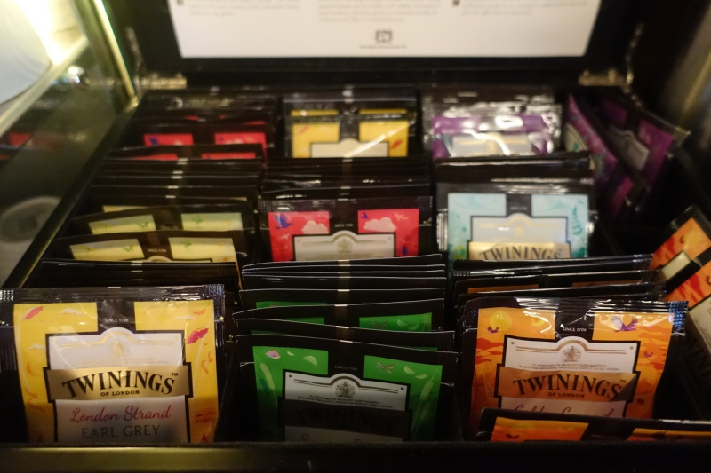 Twinings Tea, AMEX Centurion Lounge SFO Review