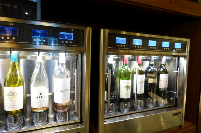Wine on Tap, AMEX Centurion Lounge SFO Review