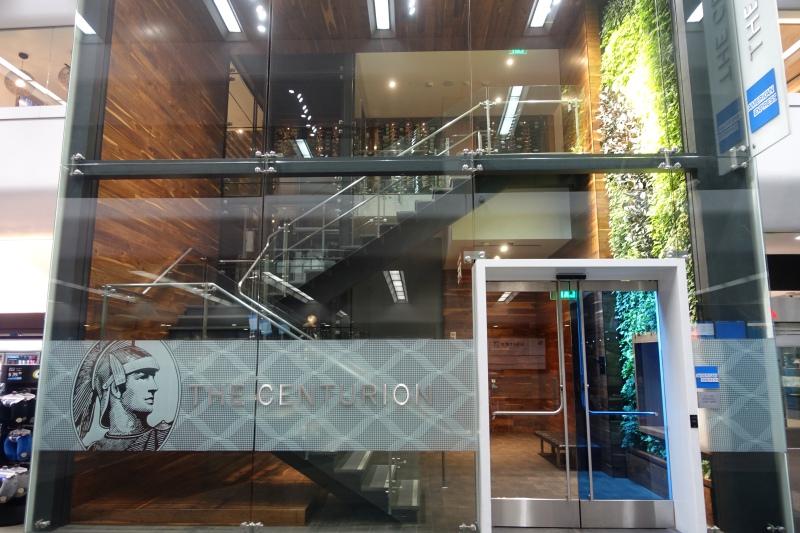 Entrance, AMEX Centurion Lounge SFO