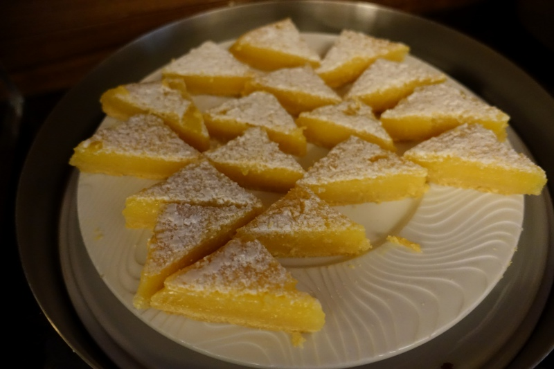 Lemon Bars, AMEX Centurion Lounge SFO Review