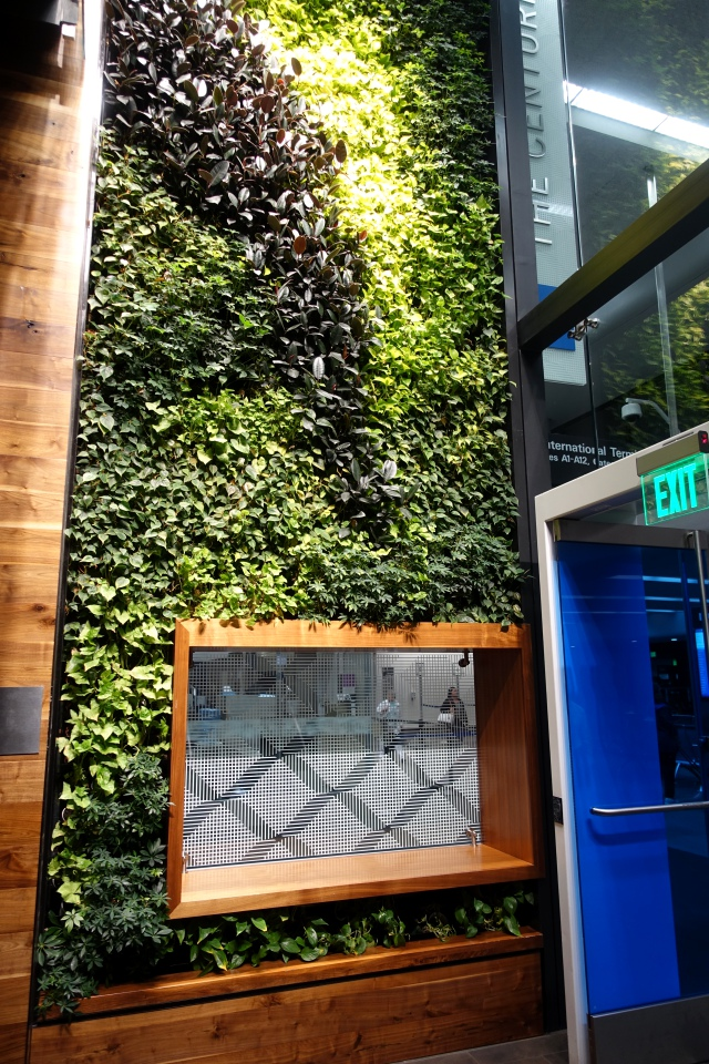 Plant Wall, AMEX Centurion Lounge SFO Review