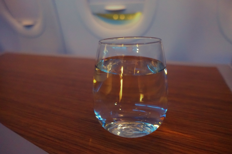 Pre-Flight Drink, American First Class A321 Review