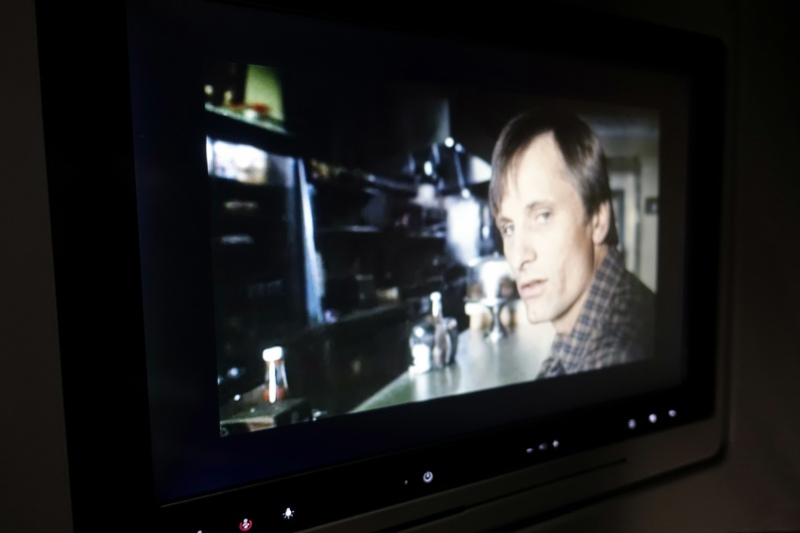 A History of Violence, Viggo Mortensen, American A321 First Class