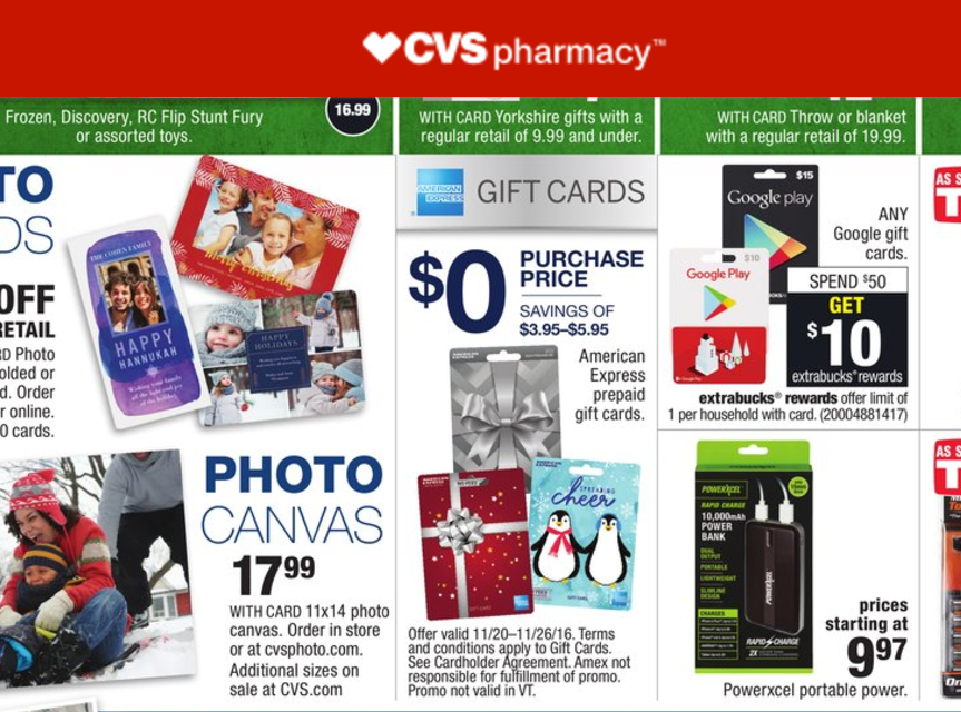 5x On No Fee Amex Gift Cards At Cvs With Chase Freedom