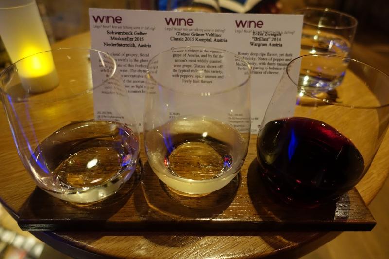 Austrian Wine Flight, ENO Wine Bar Review, Georgetown, Washington DC