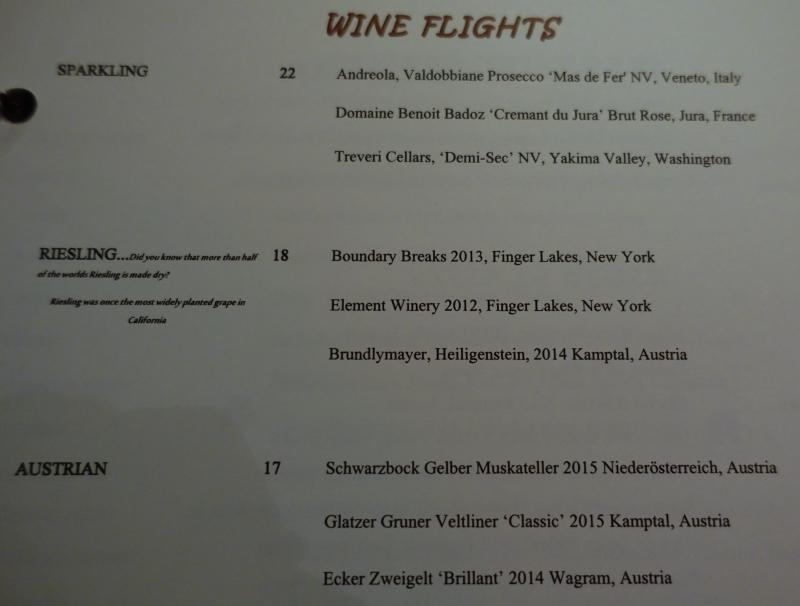 ENO Wine Bar Wine Flights-White Wines
