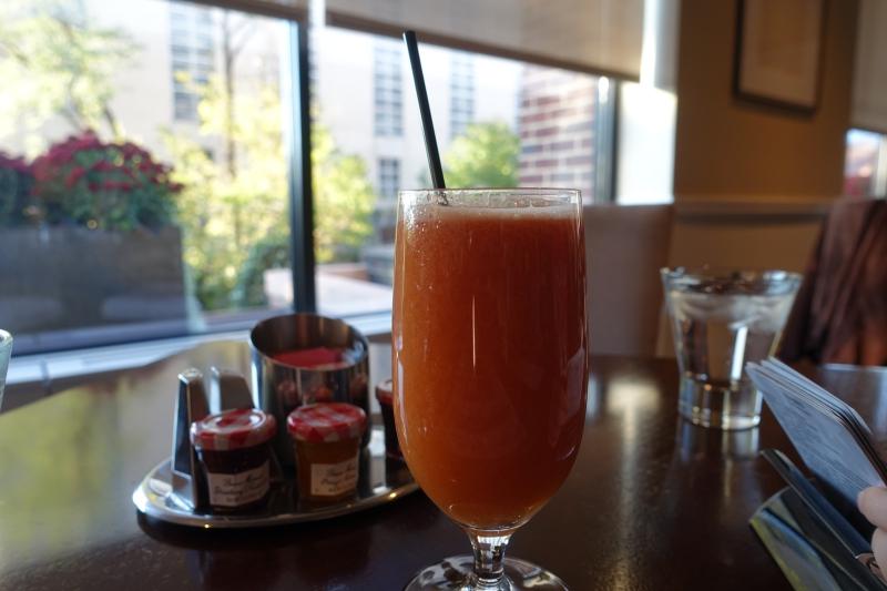 Freshly Squeezed Watermelon-Orange Juice, Seasons Restaurant Review