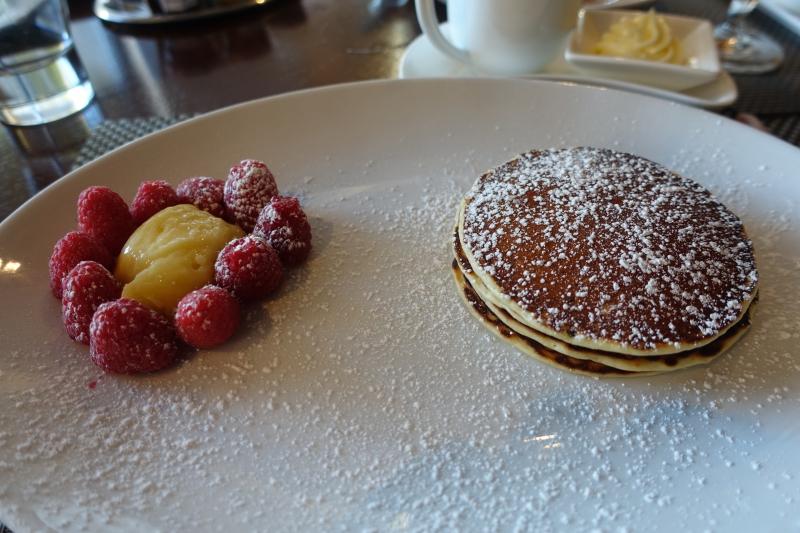 Ricotta Pancakes with Lemon Curd, Seasons Breakfast, Four Seasons DC Review