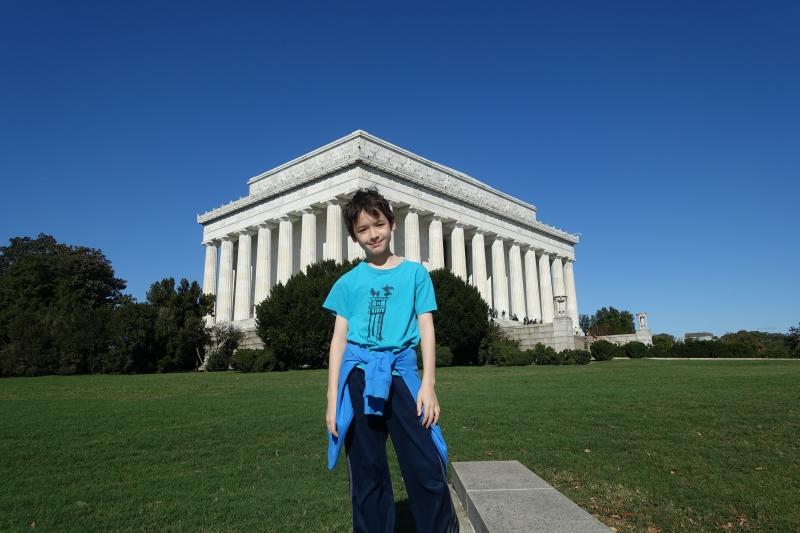 Outside the Lincoln Memorial, Washington, DC