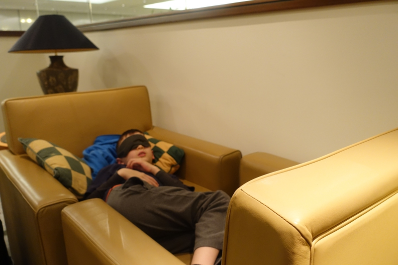 Makeshift Bed, Emirates Lounge JFK Review