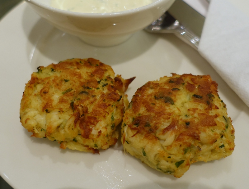 Crab Cakes, Emirates Lounge JFK Review