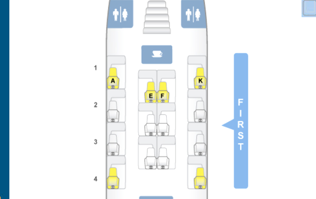 Emirates First Class A380 Seat Map