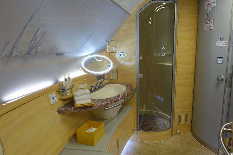 Emirates First Class Bathroom A380