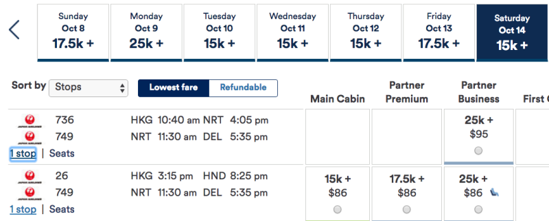 JAL Intra-Asia Award with Stopover in Tokyo Using Alaska Miles
