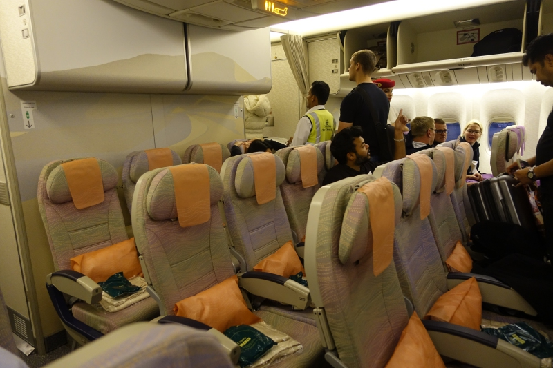 Emirates Economy Class Review, 777-300 Dubai to Male Maldives