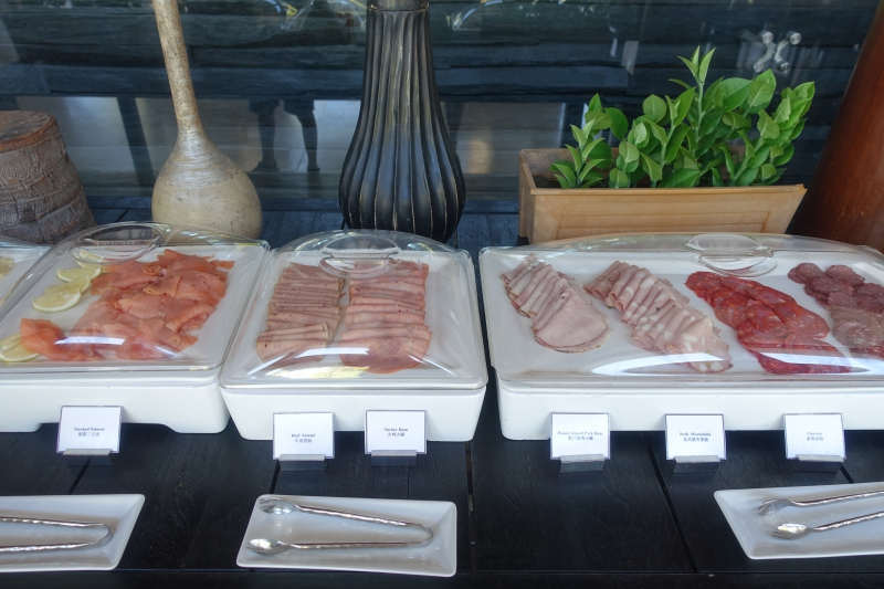 Smoked Salmon and Breakfast Meats, Park Hyatt Maldives Breakfast Buffet