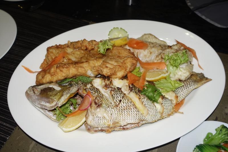 Overcooked Snapper and Grouper, Park Hyatt Maldives