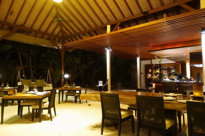 The Island Grill Restaurant, Park Hyatt Maldives Review