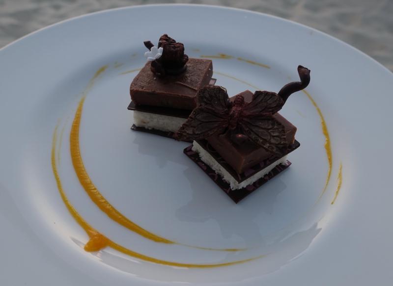 Chocolate Coconut Dessert, Park Hyatt Maldives