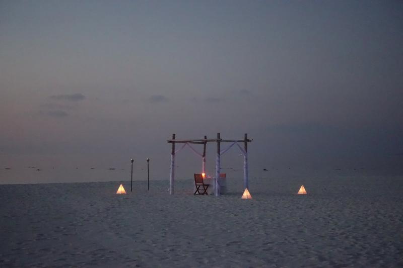 Beach Dinner, Park Hyatt Maldives
