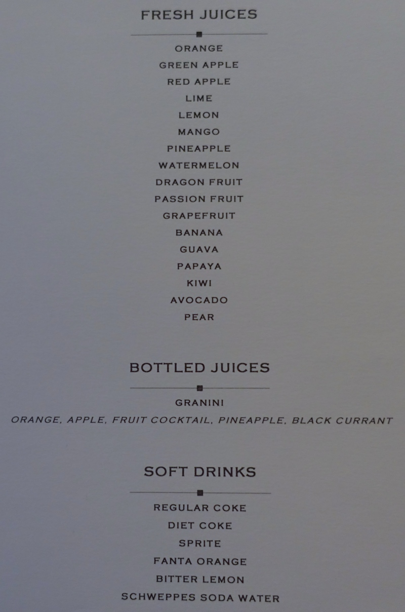 Fresh Squeezed Juice Menu, Cheval Blanc Randheli Lounge Maldives Review