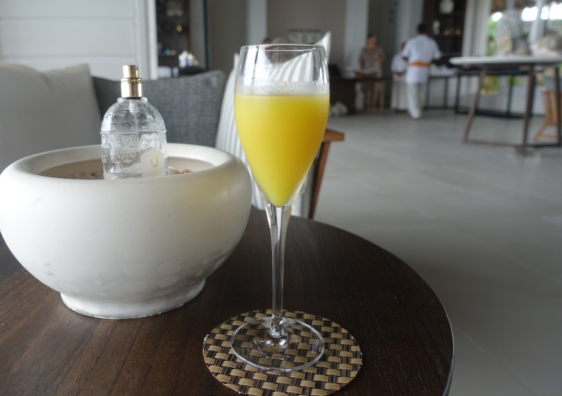Spa Welcome Drink, Cheval Blanc Randheli Review
